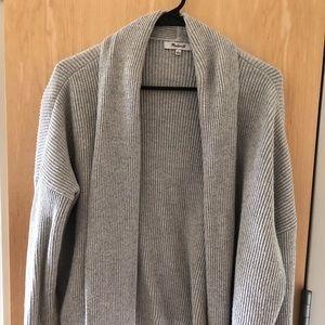 Madewell Grey Horizontide Cardigan